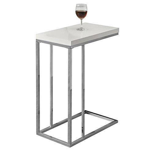 Contemporary Design. Sturdy Fashionable Chrome Metal Base Slips Easily  Under Sofa Or Chair. A Versatile Snack Table To Place In Your Living Room,  ...