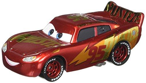 Disney Cars Pixar Die Cast Lightning McQueen With Wrap Vehicle