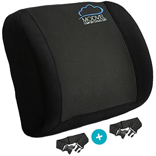 Modvel Lower Back Cushion Posture Corrector Lumbar Support For Office Chair Car Seat Traveling Orthopedic Pillow Waist Tailbone Pain Relief