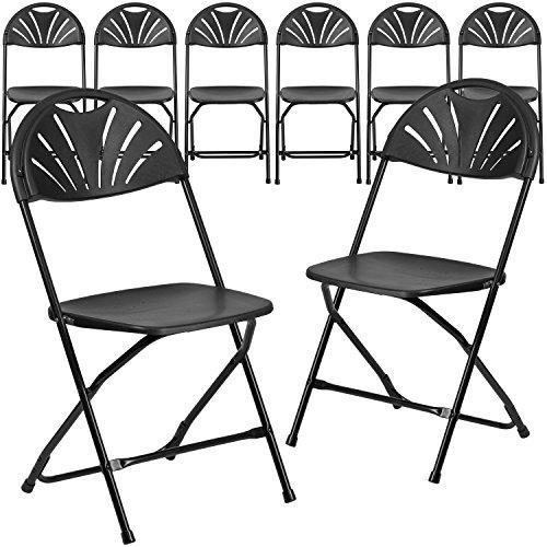 flash furniture 8 pk hercules series 800 lb capacity black plastic