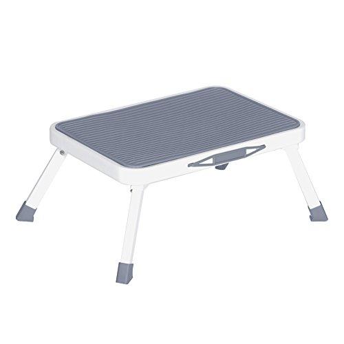 Folding Step Stool For Adults Seniors Metal Portable Rv