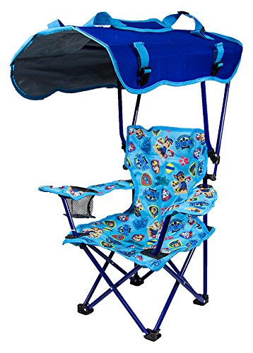 Kid S Folding Chair With Canopy And Durable Carry Bag